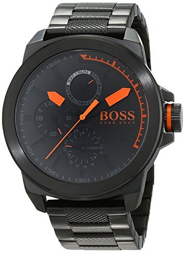 Hugo Boss Orange New York Herren-Armbanduhr Quartz mit Edelstahl Armband 1513157