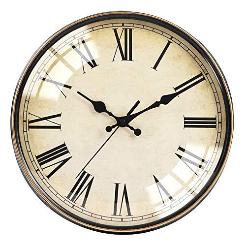BECANOE 壁掛け時計 連続秒針 北欧 サイレント 球面ガラス 掛け時計 インテリア 雑貨