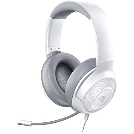 Razer Kraken X Ultralight Gaming Headset: 7.1 Surround Sound Capable - Lightweight Frame - Integrated Audio Controls - Bendable Cardioid Microphone - for PC, PS4, Nintendo Switch - Mercury White