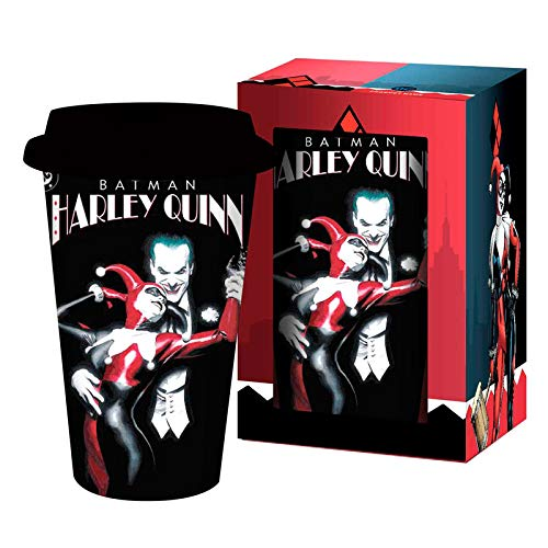 DC Comics Harley Quinn Joker travel mug