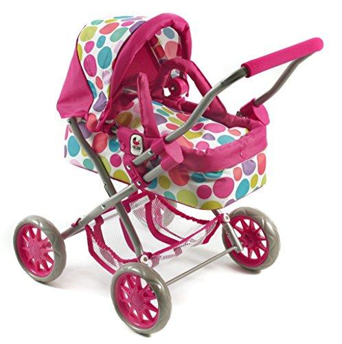 Bayer Chic 2000 555 17 Puppenwagen Smarty, Kuschelwagen, Pinky Bubbles, pink