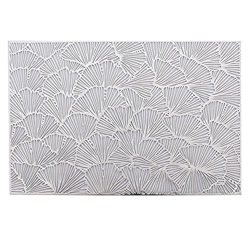 Keliour Tovagliette Set da tovagliette di 6 tappetini da Pranzo Antiscivolo Antiscivolo Isolamento Termico Lavabile per Casa (Color : Silver, Size : One Size)