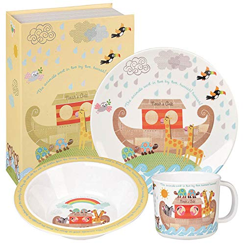 Queens Little Rhymes Noah's Ark-Caja de Regalo (3 Unidades), melamina, Multicolor, 16 x 16 x 16.5 cm