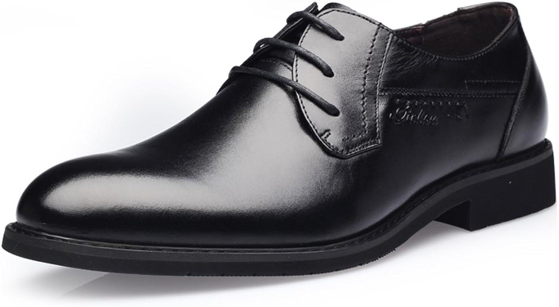 Leather shoes Lace Round Men's shoes Oxford Business Suits Men's shoes ( Size   7 D(M)US )