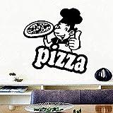 Wandaufkleber Wandsticker Wandtattoo Pizza Essen Diy