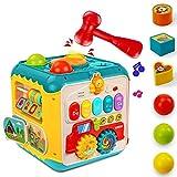 Juguete musical para bebé con forma de cubo de actividad, juguete educativo para bebés y niños pequeños a partir de 9 meses, niños y niñas