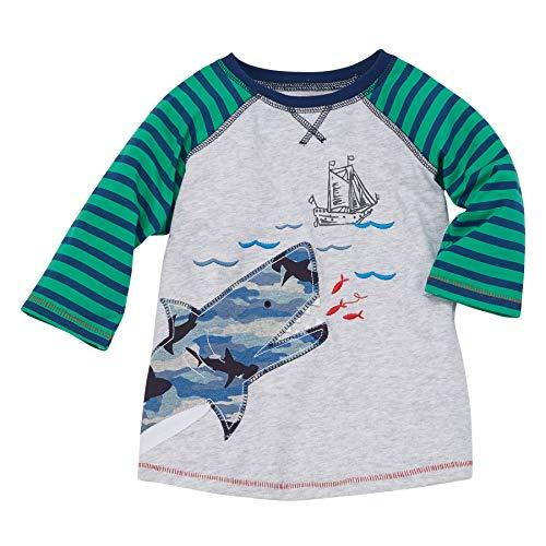Mud Pie Boys' Shark Tshirts T-Shirt, S