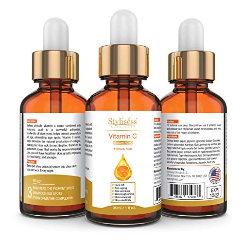 Stylisess Clinicals Anti-Aging10% Pure Vitamin C Serum with Hyaluronic Acid