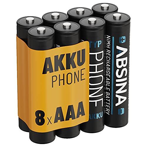 ABSINA Akku AAA für Telefon 800 mAh -...