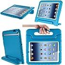 iPad Mini 3 Case, i-Blason Apple iPad Mini / iPad Mini 3 / iPad Mini with Retina Display Case, ArmorBox Kido Series Light Weight Super Protection Convertible Stand Cover for Kids Friendly (Blue)