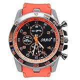 Men Wrist Watch - SBAO Stainless Steel Luxury Sport Analog Quartz Modern Men Fashion Wrist Watch Orange
