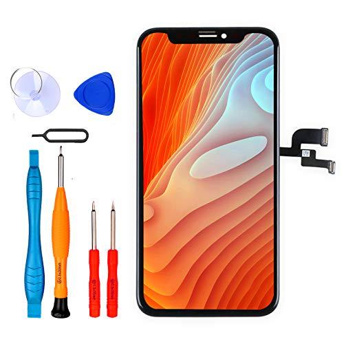 LL TRADER Schermo per iPhone X OLED Display da 5,8'' Retina Touchscreen Digitalizzatore Sostitutivo con Strumenti di Ricambio (Nero)