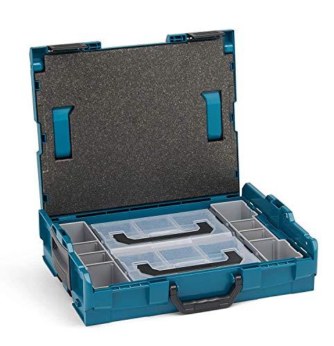 Bosch Sortimo L BOXX 102 inkl. Insetboxenset 2x L BOXX Mini | Größe 1 Makita Style | Werkzeugkoffer klein leer | Ideale Werkzeugaufbewahrung Box