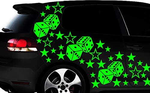 HR-WERBEDESIGN WANDTATTOO Lot de 93 Autocollants cubiques en Forme d'étoile pour Voiture Motif Fleurs