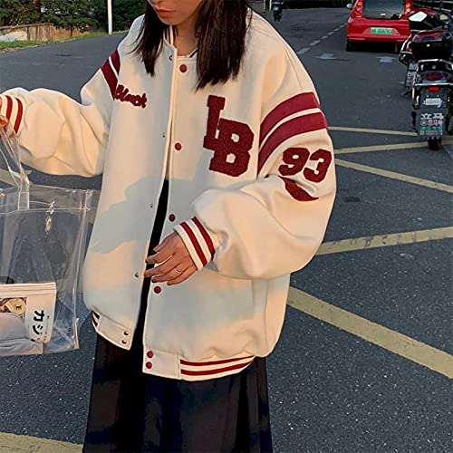 Chaqueta Fresca Mujeres Primavera otoño Nuevo Coreano Suelto más Terciopelo Fino BF suéter Chaqueta Harajuku Hip Hop Baseball Uniform Top Top Top