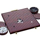 LOGO Go Game, Go Gioco IR A Configurar WeiQi para Go Backgammon 2 Portátil Tablero De Ajedrez Plegable Fácil De Cargar Respetuoso con El Medio Ambiente Y Duradero Niño Adulto 2 Colores YYFANG