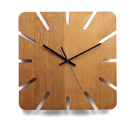 Relógio De Parede Moku Madeira Grande 30 Cm