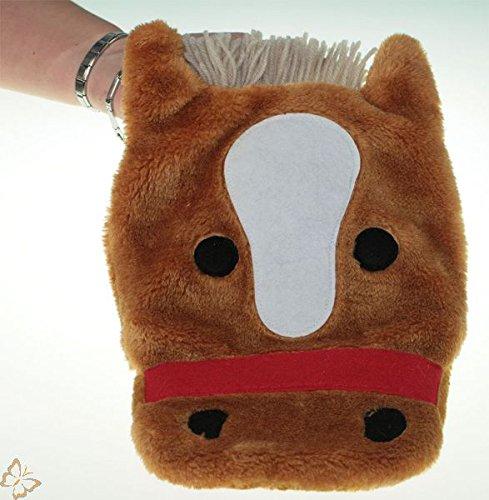Wärmflasche mit Bezug Pferd ED 40 cm Gummiwärmflasche 0,8L