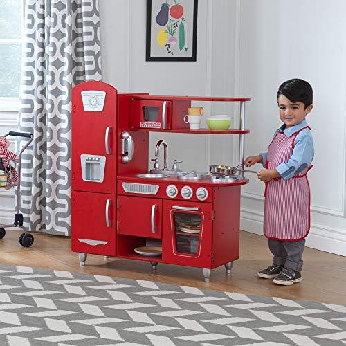 KidKraft 53173 Vintage-Spielküche aus Holz, Rot - 4