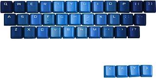 TINTON LIFE Gradient 37 Keys PBT Backlit Keycaps Set for Mechanical Keyboard(Gradient Blue)