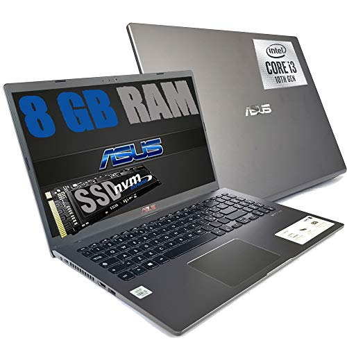 "Notebook Asus GRAY Portatile Pc Display FHD 15.6"" Cpu Intel i3-1005G1 3,4ghz /Ram 8Gb DDR4 /SSD NVMe 256GB /HD Graphics UHD /Hdmi Wifi Bluetooth /Windows 10 Pro /open office"