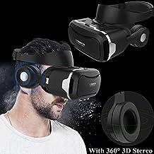 هدست واقعیت مجازی 3D ، هدست / شیشه Tsanglight VR با هدفون داخلی داخلی برای 4.5-6.0 اینچ Android / iOS برای Samsung Galaxy S7 Edge S6 ، iPhone 7 6 6S Plus و غیره