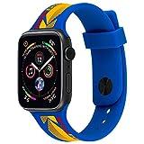 [ Kodak × Case-Mate ] コダック コラボ Apple Watch 交換ベルト (42mm / 44mm) スポーツバンド アップル ウォッチ [ 簡単取付・コラボレーション・防汗 ] ブルー Ektachrome Blue Apple Watch series 5 / 4 / 3 / 2 / 1 対応 CM039072