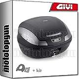 givi maleta simply iii e470nt + porta-equipaje compatible con piaggio x8 150-200-250-400 2007 07 2008 08 2009 09