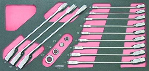 KS Tools 713.2027Gearplus Modul-Satz Maulschlüssel mit Umschaltknarre mit Adapter 16-teilig