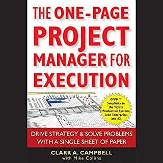 The One-Page Project Manager for Execution cover art