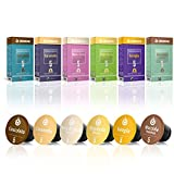 Gourmesso Caja de sabores – 60 cápsulas de café compatibles con cafetera Nespresso - 100% Fairtraide - 6 Sabores inusuales