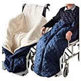 MJZYP Winter Rollstuhlsack, Rollstuhl Warm Fußsack, Innenfutter Webpelz Polyester, Rollstuhl Winddicht Schlupfsack, Für Alle Rollstühle Wheelchair Accessory