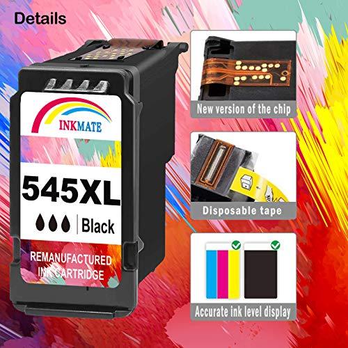 INKMAKE 545 - Cartucho de Tinta Compatible con Canon Pixma MG2550S, MG2450, MX495, MG3050, MG2950, IP2850, MG2500, MG3051, MG3052, MG3053, MG2950S, MG2900, MG2955, MX490, iP2840, Color Negro