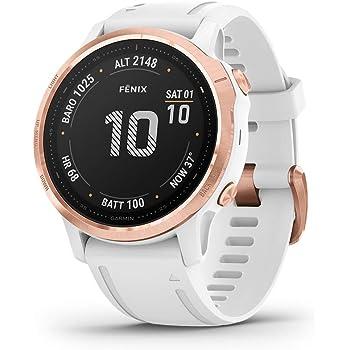 Garmin fēnix 6S Pro - Reloj GPS multideporte con mapas, música, frecuencia cardíaca y sensores, Oro rosa con correa blanca: Amazon.es: Deportes y aire libre