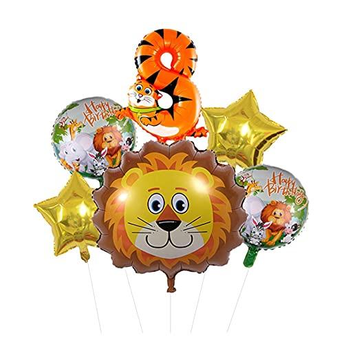 XIAOZSM Globos Lion Head Globos Set Animal Número de Diapositivas Globos Cumpleaños Cumpleaños Fiesta de cumpleaños Decoraciones Baby Shower ( Farbe : 8 )