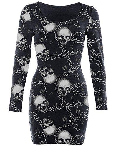Iron Fist Kleid URBAN Bodycon Dress Schwarz XS