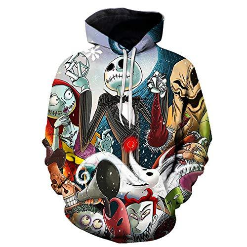 Hommes Femmes Hoodies vêtements d'extérieur Halloween Cadeau Impression 3D Femme/Homme Sweat à Capuche Squelette crâne décontracté Gothique Punk Hip Hop Streetwear