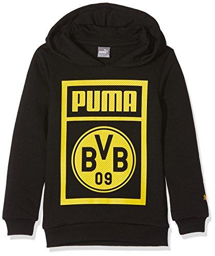 PUMA Kinder BVB Shoe Tag Hoody Jr Sweatshirt, Black, 176