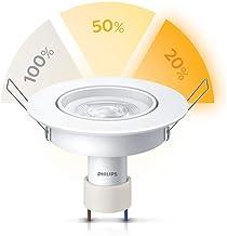Luminária Led Philips Spot redonda Dimerizável 5W luz amarela bivolt base GU10