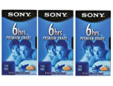 SONY 3T120VR 6hrs. EP T-120 VHS Tapes (3-Pack)
