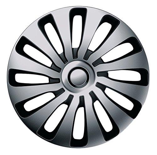 CM DESIGN 16 Zoll Bicolor Radzierblenden SEPANG (Silber/Schwarz). Radkappen passend für Fast alle OPEL wie z.B. Astra J