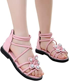 Toddler Girl Summer Cute Flower Single Shoes Sandals Suma-ma Children Girls Cartoon Cat Loafers Shoes