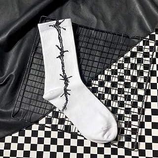Calcetines de 6 pares de calcetines de hombres y mujeres de moda Calcetines modernos de hip hop de moda