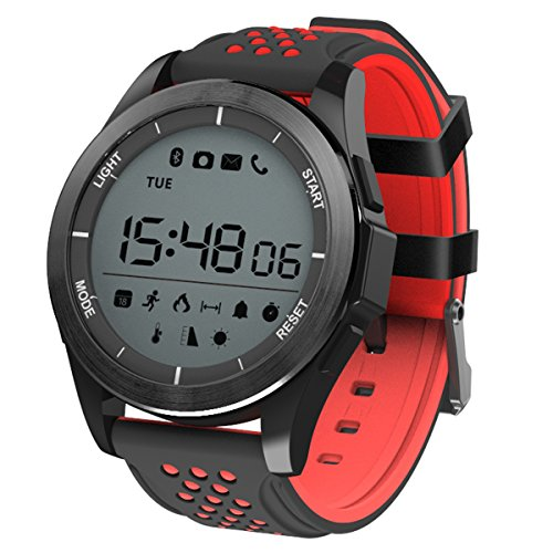 Padgene Smart Watch Digital Armband Smartwatch (Schwarz Rot)