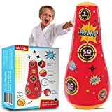 whoobli Target Inflatable Kids Punching Bag, Inflatable Toy Punching Bag for Kids, Bounce-Back Bop Bag for Play, Boxing, Karate, Anger Management, Toys Age 3 4 5 6 7, Gifts for Kids 3-7