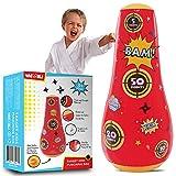 whoobli Target Inflatable Kids Punching Bag, Inflatable Toy Punching Bag for Kids, Bounce-Back Bop Bag for Play, Boxing, Karate, Anger Management