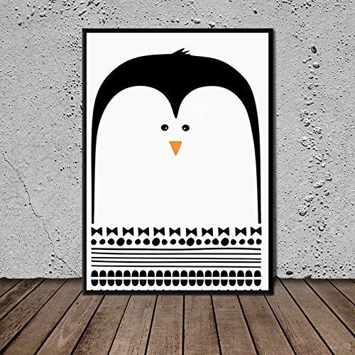 N/A Leinwandmalerei 3D Druck Pinguin Wandkunst Leinwand Poster Nordische Malerei Wandbild Wohnzimmer Home Decor Rahmenlos Home Wohnzimmer Dekoration Geschenke