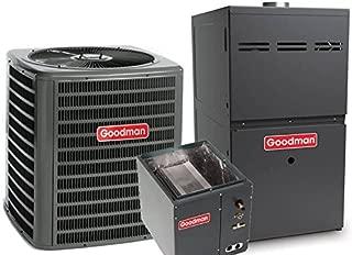 Goodman 3 Ton 16 SEER R-410A 80% AFUE 80,000 BTU Two-Stage Upflow Gas Furnace Split System