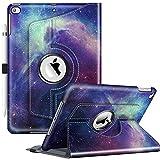 FINTIE Coque Compatible avec iPad 9ème 2021 / iPad 8ème 2020 / 7ème 2019 10.2' - Support 360° Rotation Housse de Protection Etui Case Cover Auto Veille/Réveil, Galaxie