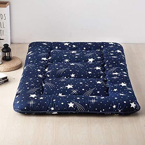 MSM Japanisch Bodenmatratze Shikibuton,Gedruckt Boden Sleeping Pad,100% Baumwolle Futon Roll Up Tragbar Camping Matratze Meteorregen 180x220cm/71x87inch